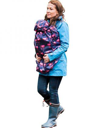 Copertura Protettiva Impermeabile Leggera per Babywearing Fenicotteri