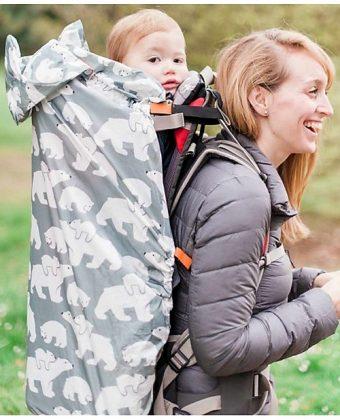 Copertura Protettiva Impermeabile Leggera per Babywearing Orsi polari