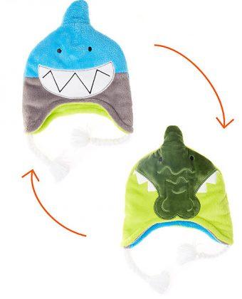 Cappello Invernale Reversibile Squalo+Coccodrillo