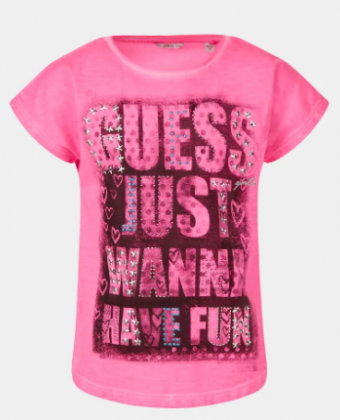 T-shirt con strass Guess